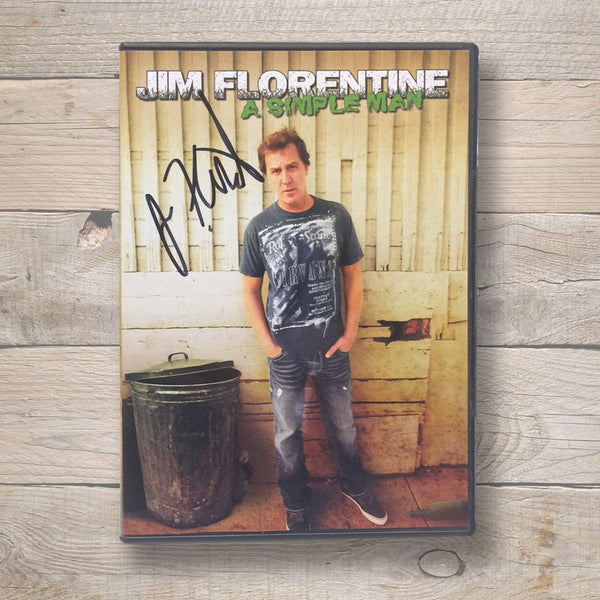 Jim Florentine A simple man DVD Autographed