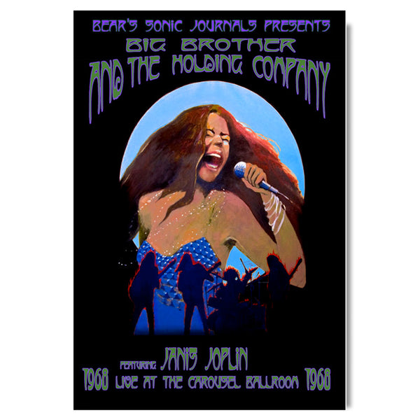 OSF Janis Joplin Poster – With Big Brother and The Holding Company