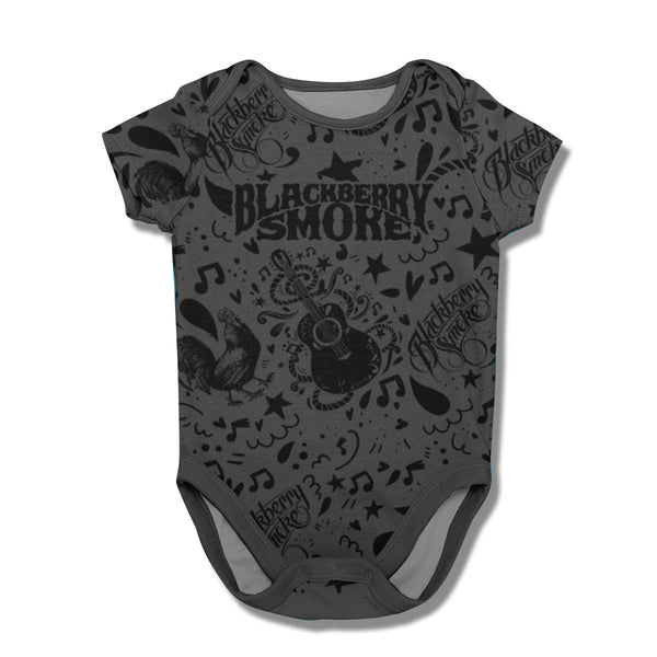 ALL OVER PRINT ONESIE (BLACK)