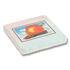 Eat a Peach Stone Coaster