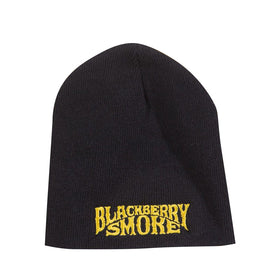 EMBROIDERED GOLD LOGO BEANIE