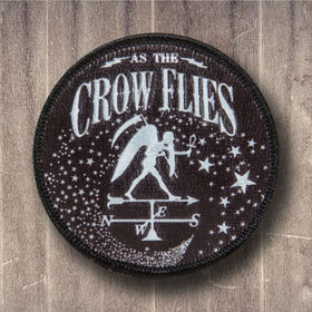 As The Crow Flies Embroidered Patch