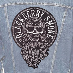 LARGE EMBROIDERED BEARD BACK PATCH
