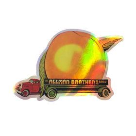 ALLMAN BROTHERS BAND EAT A PEACH HOLOGRAPHIC STICKER