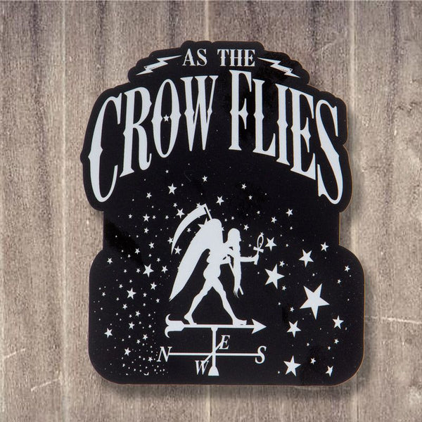 As The Crow Flies Ankh and Stars  Sticker