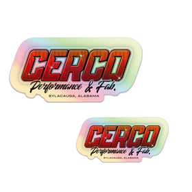 Cerco Holographic Sticker Pack
