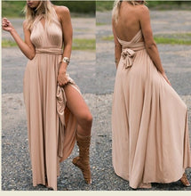 Load image into Gallery viewer, (spot) Temperament Bridesmaid long sister group dress 2020 bride Bridesmaid dress many kinds of long Party dinner dress gowns