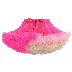 1-10Y Girls Tutu Skirt Ballerina Pettiskirt Layer Fluffy Children Ballet Skirts For Party Dance Princess Girl Tulle Miniskirt