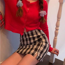 Load image into Gallery viewer, Korean Colored Plaid Skirt Women 2020 Student Chic Short Skirts Fashion Sexy Mini Skirts Spring Summer Female Skirts