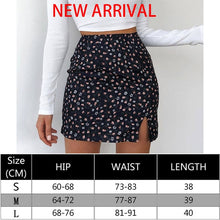 Load image into Gallery viewer, Waatfaak Solid Black Split A-line Skirt Ladies Casual 2020 High Street Mini Skirts Womens Sexy Summer Korean Style Short Skirt