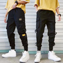 Load image into Gallery viewer, 2020 Pocket Cargo Pants 2020 Casual Men Breathable Ankle Tie Pocket Drawstring Cargo Pants Ninth Trousers Hip Hop Trousers