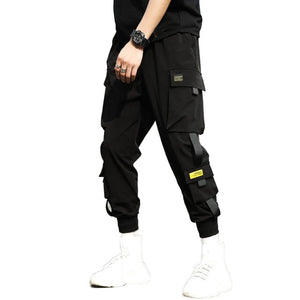 2020 Pocket Cargo Pants 2020 Casual Men Breathable Ankle Tie Pocket Drawstring Cargo Pants Ninth Trousers Hip Hop Trousers
