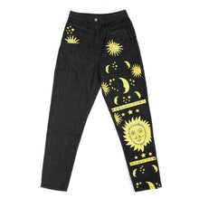 Load image into Gallery viewer, Fashion Sun Star Print Pants Women Female Spring Summer women's Jeans Trousers Girls Denim Chic High waist Cool Pant jeans women