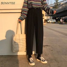 Load image into Gallery viewer, Jeans Womens Plus Size Solid High Waist Ulzzang Harajuku Korean Style Vintage Fashionable Females Trousers Pockets Simple Chic
