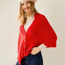 Load image into Gallery viewer, In 2020, the new fashion of 100% pure cashmere cardigan for women is a hollow-out shawl knit sweater