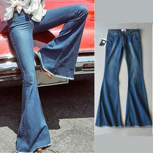 Load image into Gallery viewer, New 2020 High Waist Jeans Blue Black Flare Jeans For Women Denim Skinny Womans Jeans Female Wide Leg Jeans Ladies Pants