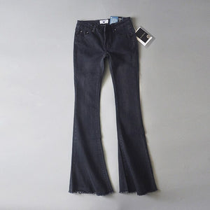 New 2020 High Waist Jeans Blue Black Flare Jeans For Women Denim Skinny Womans Jeans Female Wide Leg Jeans Ladies Pants