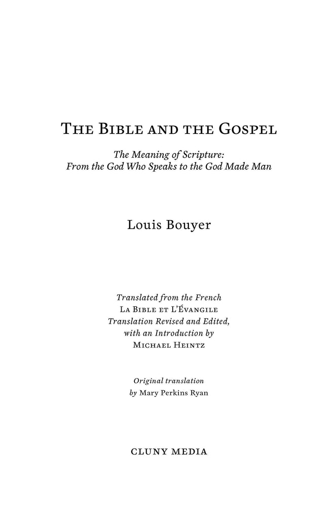 The Bible and the Gospel