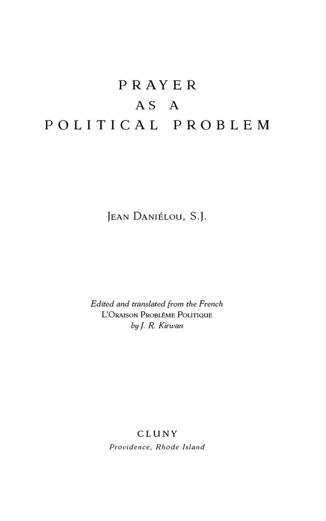 Prayer as a Political Problem