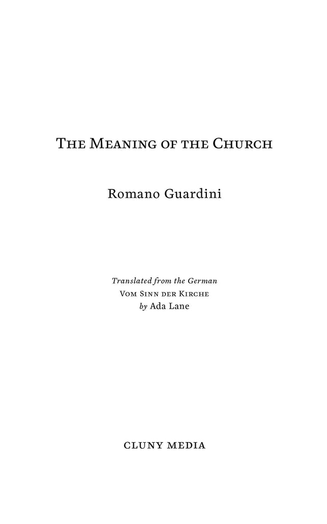 The Meaning of the Church