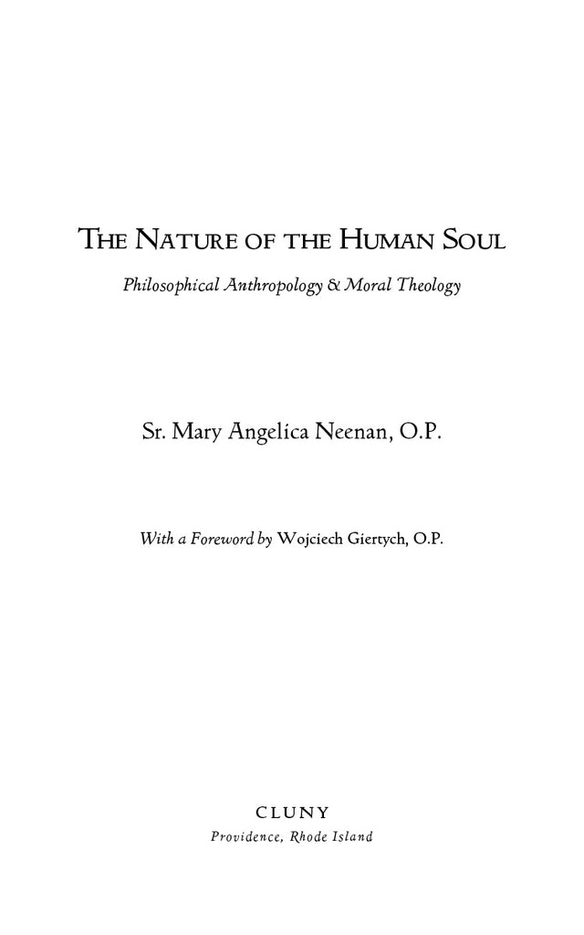 The Nature of the Human Soul