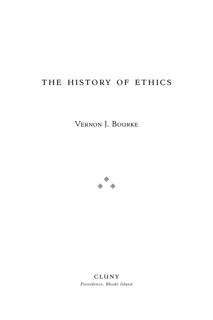 The History of Ethics