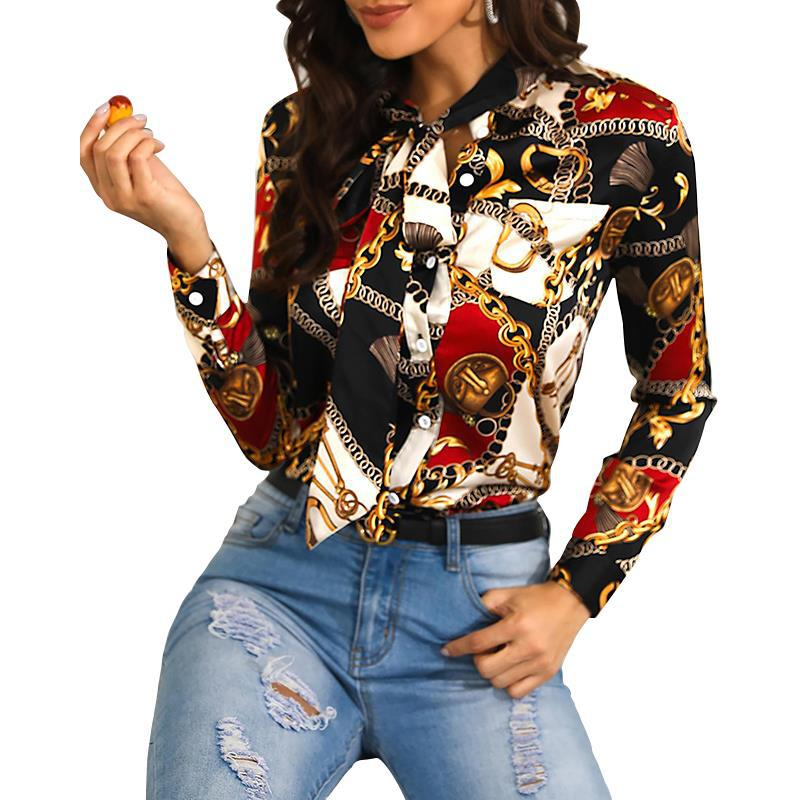 fashion chain print shirt