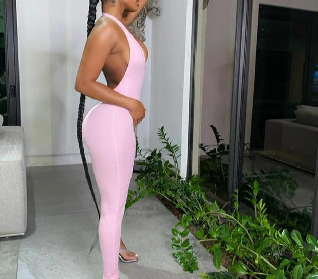 Sleeveless Backless Jumpsuit