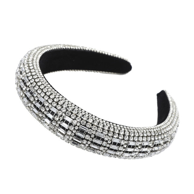 Padded Rhinestones Full Crystal Headbands