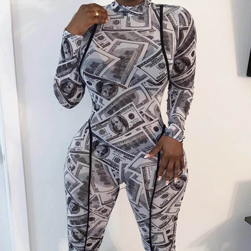 Money Print Jumpsuit
