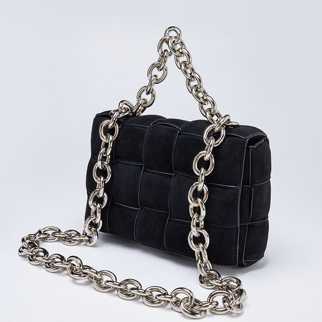 Frosted Suede  Shoulder Chain Bag