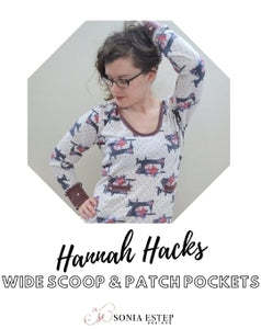 Hannah Hack: Hooded with a Wide Scoop and Patch Pockets