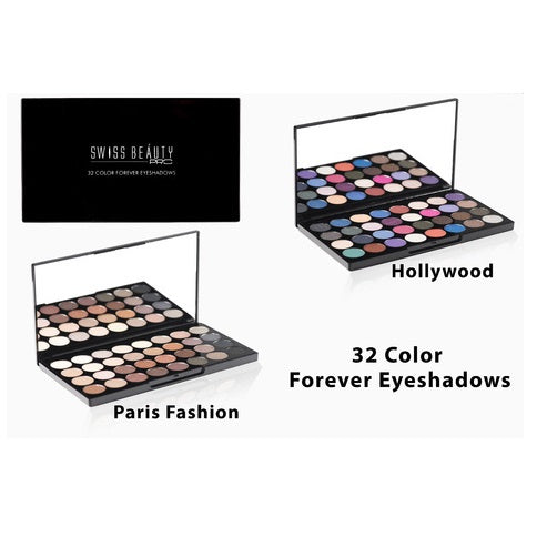 Swiss Beauty Pro 32 Color Forever Eyeshadow