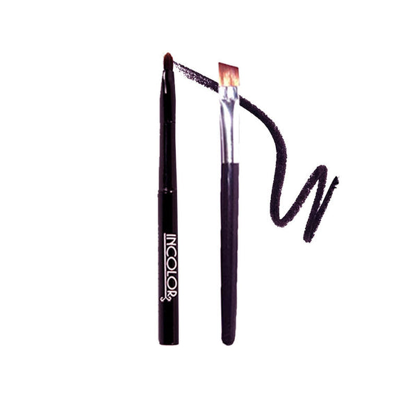 Incolor Gel Eyeliner Black+Brown & Smudge Brush