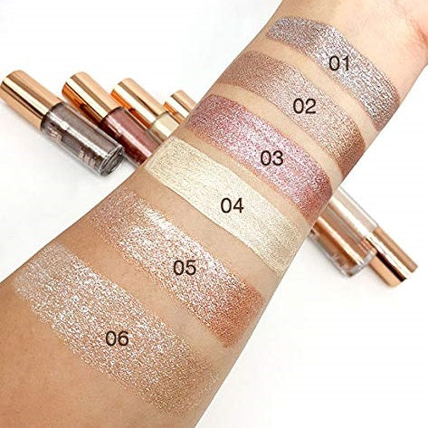 Glam21 Liquid Metallic Glitter Eyeshadow Set of 6