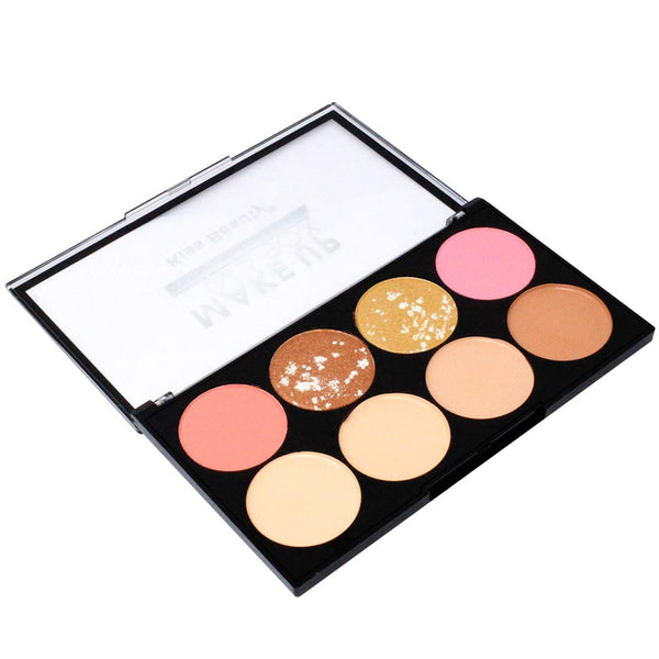 Kiss Beauty 3in1 Contour, Highlighter and Blusher Palette