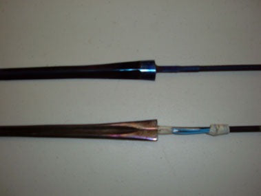 StM épée blade, Wired with German parts