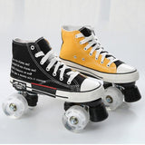 Best Beginner Contrast Color Canvas Roller Skates For Men And Women