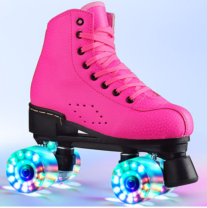Adult Roller Skates For Men and Women double-row skates  luminous roller skates