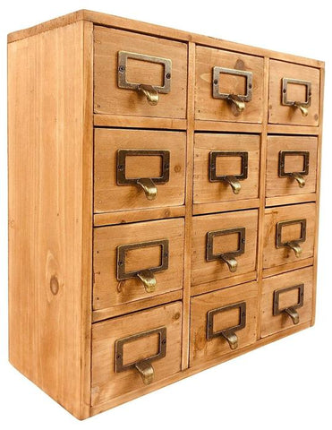 Storage unit with 12 drawers