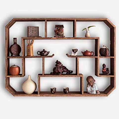 Wooden wall hanging unit