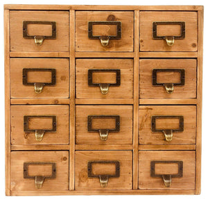 Storage unit with 12 drawers (35 x 15 x 34cm)