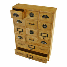 Load image into Gallery viewer, 14 drawer storage unit solid wood desktop organiser