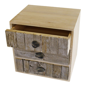 3 drawer unit driftwood