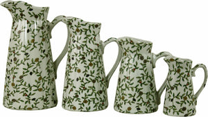 Set of 4 ceramic jugs