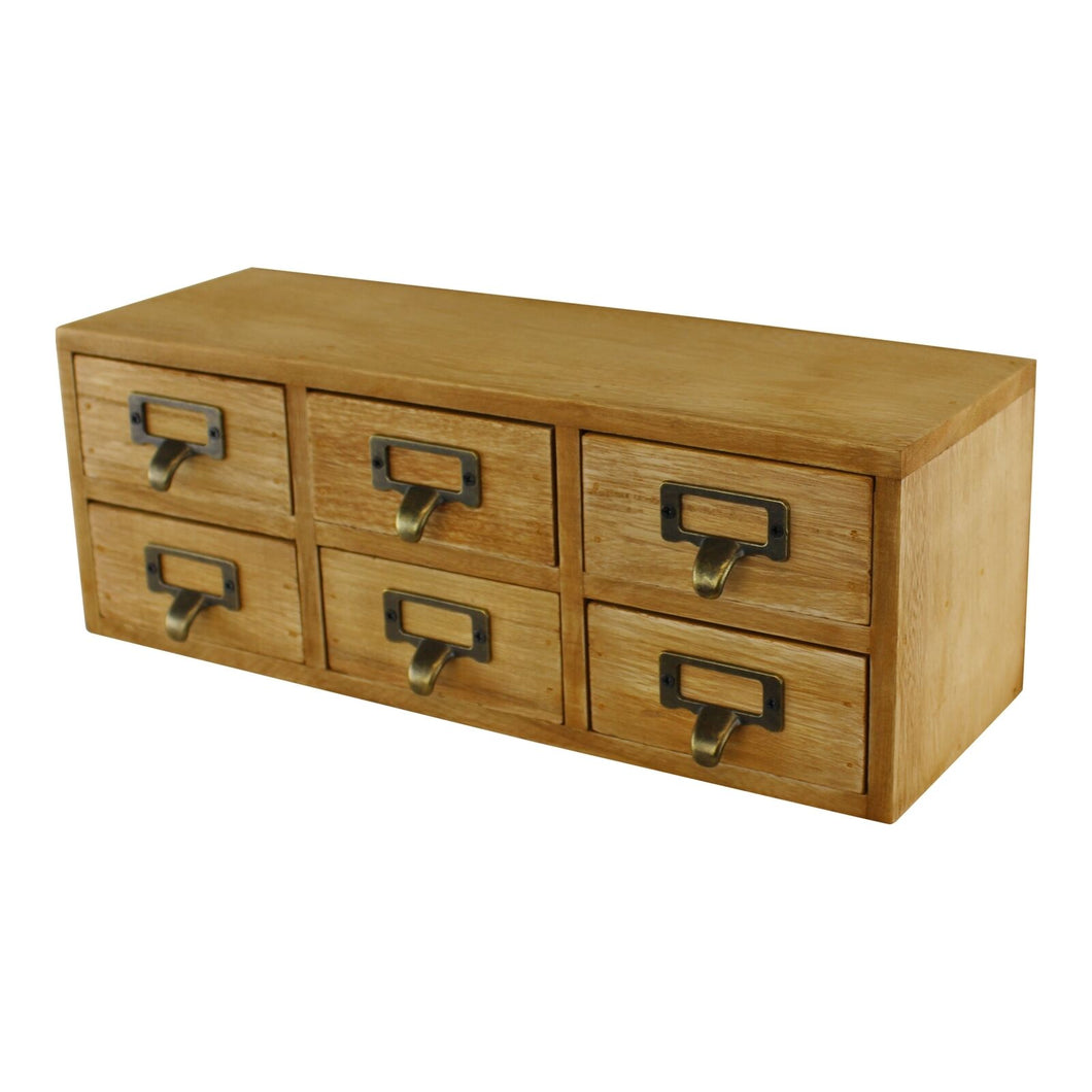 6 drawer double level small storage unit, trinket drawer