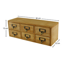 Load image into Gallery viewer, 6 drawer double level small storage unit, trinket drawer