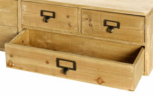 Load image into Gallery viewer, Wide 6 drawers wood storage organizer 80x15x20cm