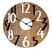 Load image into Gallery viewer, Numbered-wooden-clock
