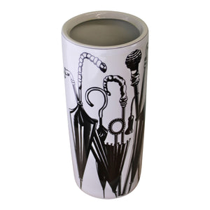 black & white umbrella stand